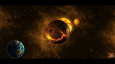 New Destroyed Planet In Space