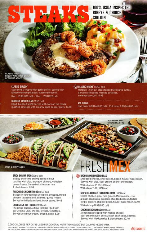 Chili's Grill & Bar Menu   Order Online   Delivery