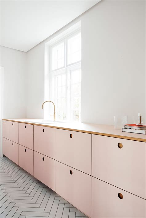 Pink Kitchen fronts by Reform for IKEA kitchens