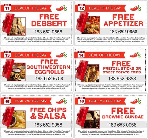 Free appetizer day and more this week at Chilis