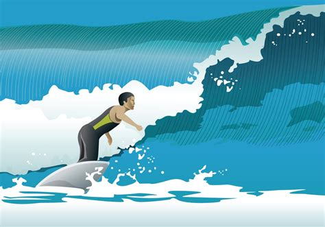 Surfing Waves - Download Free Vector Art, Stock Graphics