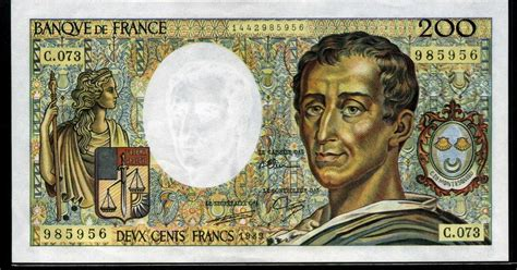 Currency of France 200 French Francs banknote of 1989