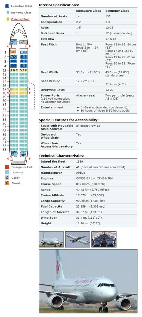 Air Canada Airlines Aircraft Seating Charts - Airline
