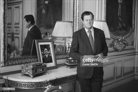 Olivier Guichard French Minister of justice in his office
