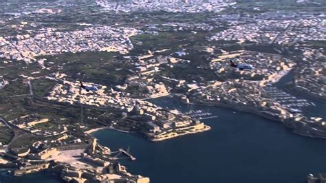 Air Malta Aircraft in Formation over the Maltese Islands