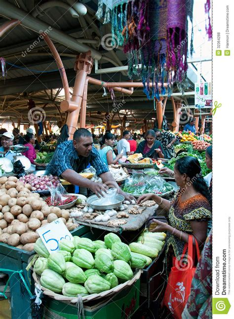 Various Vegetables At Vegetable Market Editorial Stock