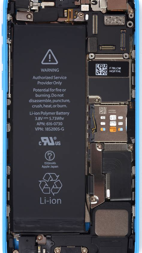 iFixit's internals-exposing wallpapers for the iPhone 5s/5c