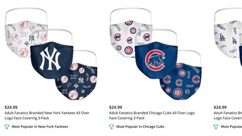 Where to buy MLB team face masks online - Officially