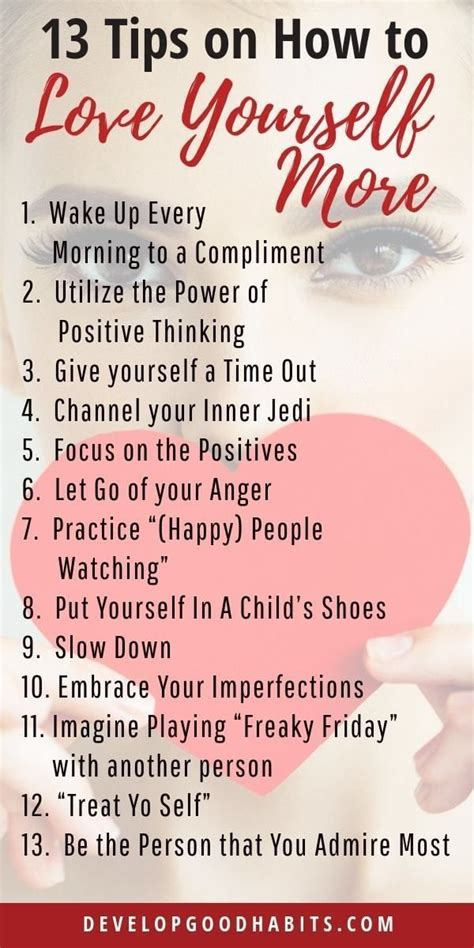 13 tips on how to love yourself more #selfcare | Positive
