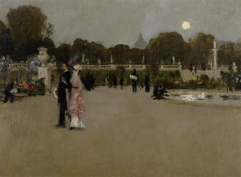 Luxembourg Gardens At Twilight Painting by John Singer Sargent