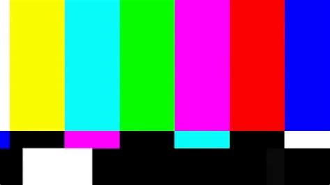 SMPTE color bars No Signal TV 4s - YouTube