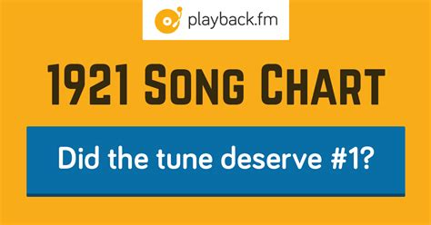 Top 100 Song Chart for 1921 | Playback