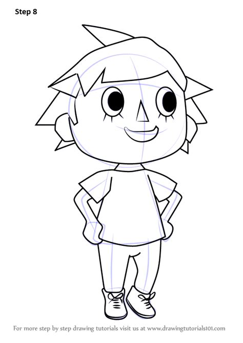 Learn How to Draw Player from Animal Crossing (Animal