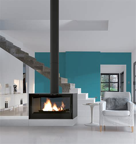 Contemporary Freestanding Fireplaces | Modern Suspended