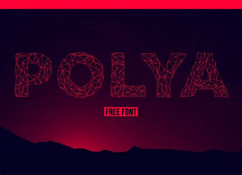 11+ Free Low Poly Fonts - Hipsthetic