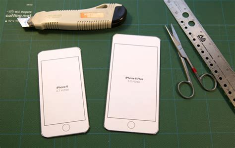 iPhone 6 printable templates to try sizes