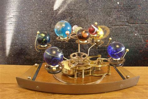 Orrery Steampunk Art Clock With Planets Of The Solar
