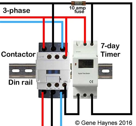 Din rail timers and manuals: