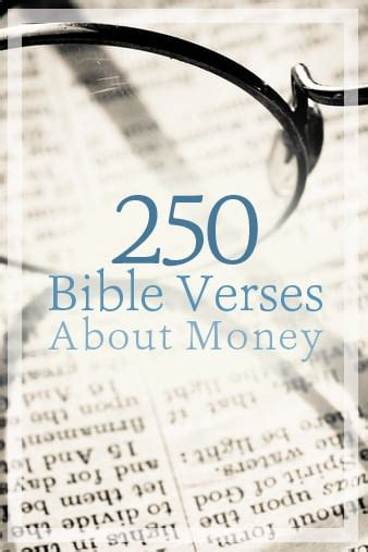 250 Bible Verses about Money