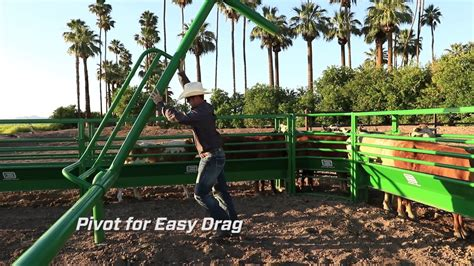 Chute Help Adjustable Pivoting Roping Boxes - YouTube
