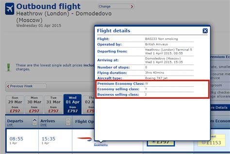Executive Club - Find your fare Class on ba