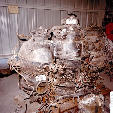 Challenger Explosion - Recovered Main Engines