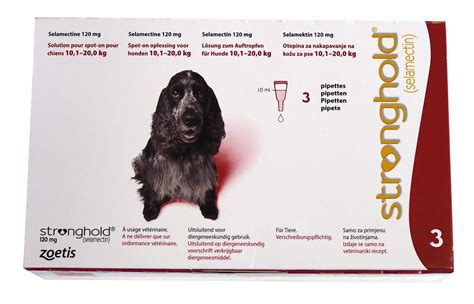 Stronghold 120 mg Chien 10-20 kg 3 pipettes | La Compagnie
