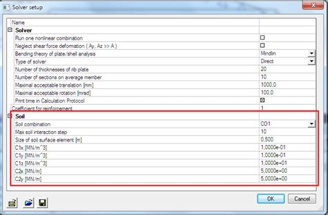 Required parameters for Soil in calculation