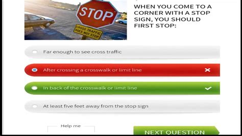 FREE -Florida permit test -written test- Road signs and