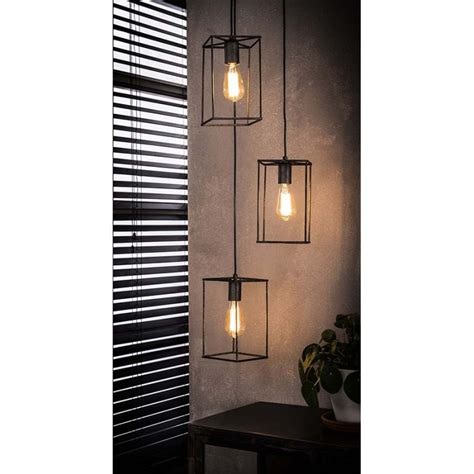 Suspension 3 lampes AMARNA style industriel - MiLOME