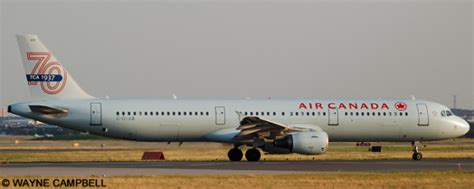 Air Canada Airbus A321 (Ice Blue Livery With 70th