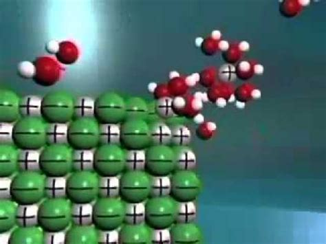 Dissolution of NaCl - YouTube
