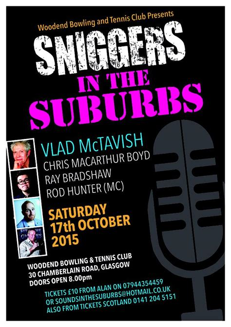 Sniggers in the Suburbs, Woodend Bowling and Tennis Club