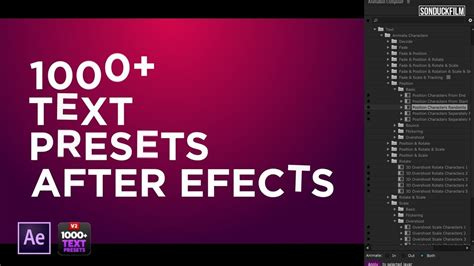 1000+ Text Animation Presets For After Effects | Motion