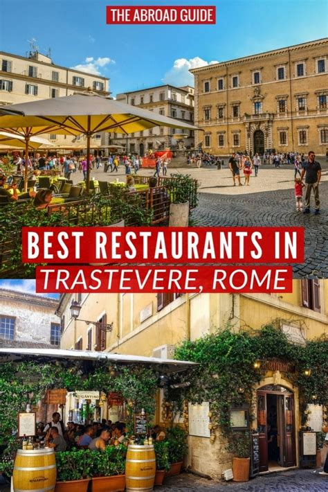 Top 10 Restaurants in Trastevere, Rome - The Abroad Guide