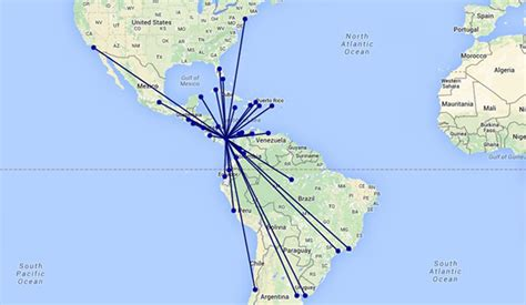 Copa Airlines quadruples in size from Panama City since 2006
