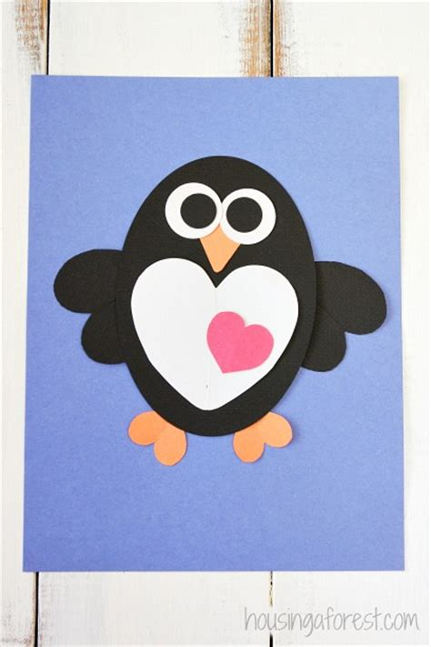 Heart Penguin Craft for Kids | Housing a Forest