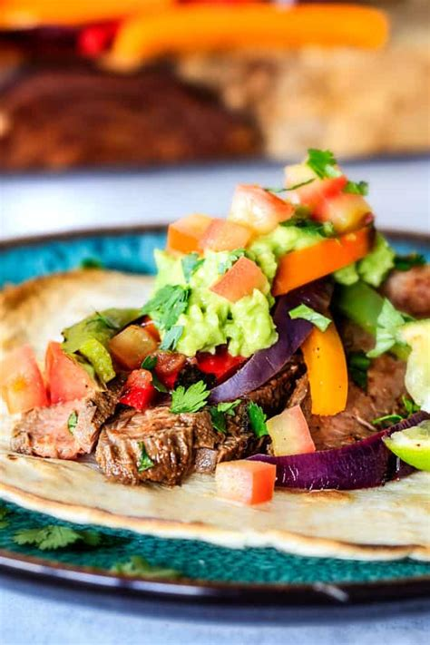 Steak Fajitas - CRAZY flavorful and juicy with the BEST