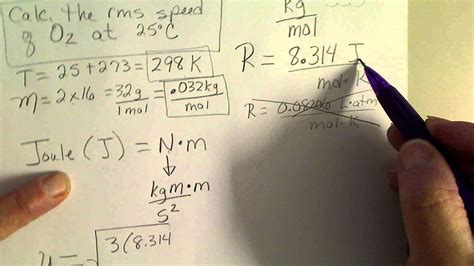 Calculate the Root Mean Square (rms) Speed of oxygen gas