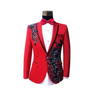 costume rouge homme