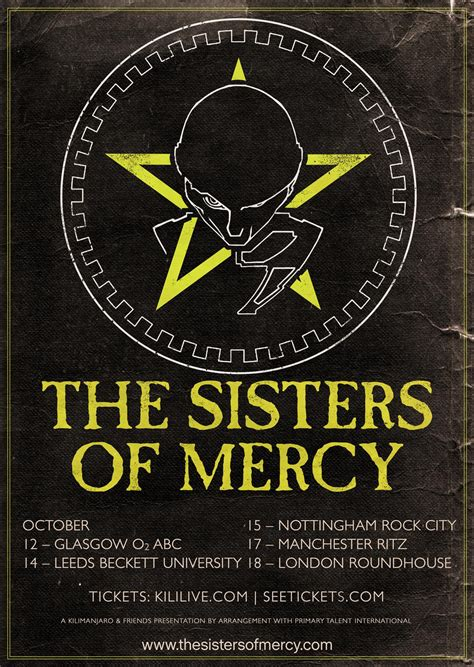 Sisters Of Mercy announce October 2015 UK tour
