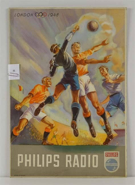 FOOTBALL /JEUX OLYMPIQUES LONDRES 1948 /pour Philips Radio