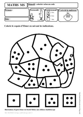 Coloriage Code Maternelle