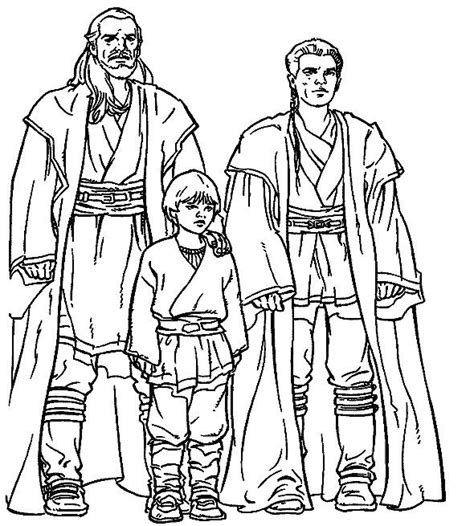 This printable coloring page has a Lego Star Wars Padme