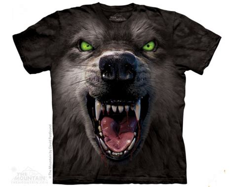tee shirt the mountain big face Big face attack wolf - T